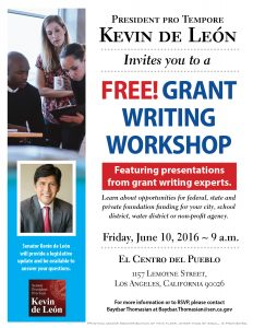 Free grant writing workshops