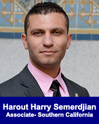 Harout Harry Semerdjian, Associate Southern California
